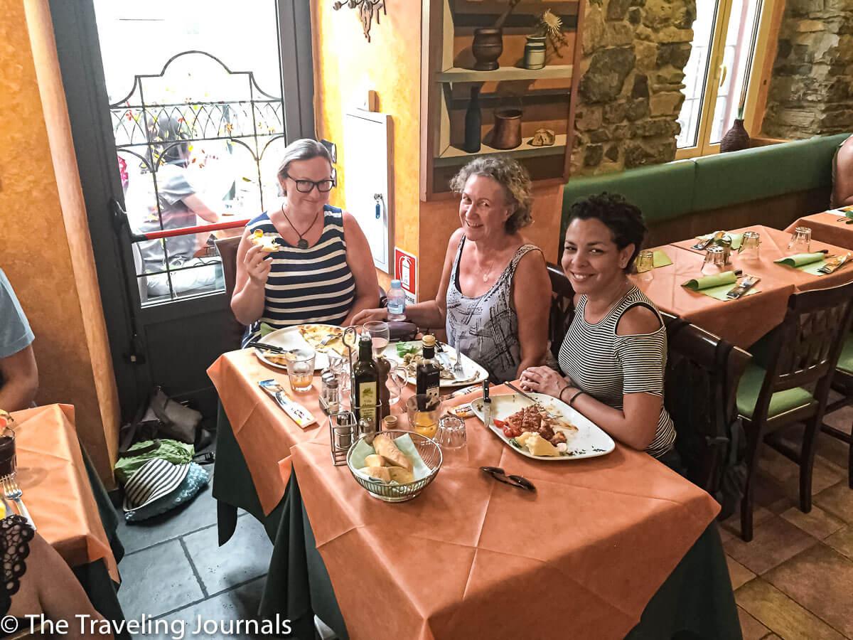 Lunch in Bellagio, Lake Como,Almuerzo en Bellagio, Laguna Como
