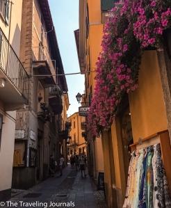 Bellagio's narrow streets, Las estrechas calles de Bellagio