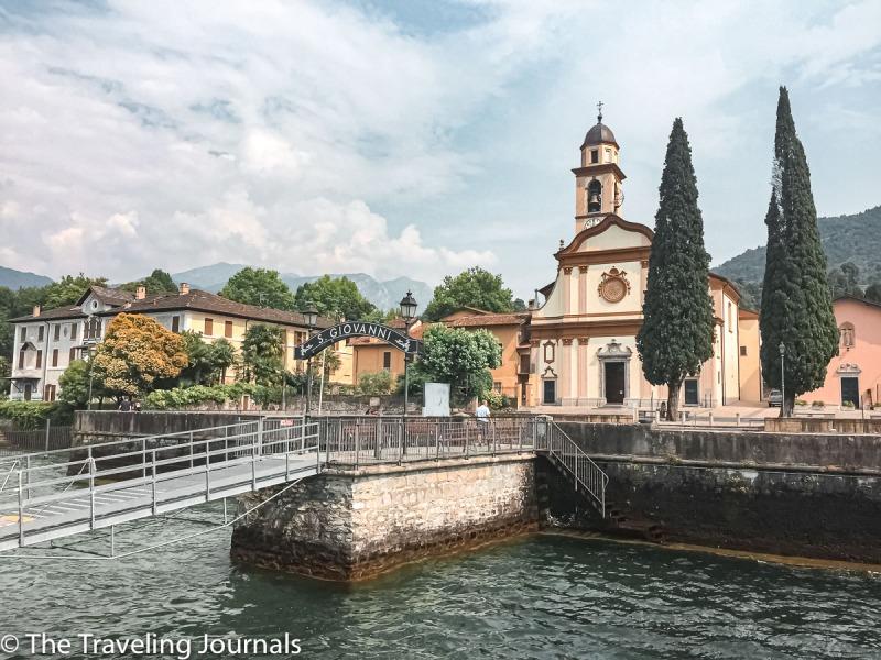 View of San Giovanni, Lake Como from the Ferry Vista de San Giovanni desde el Ferry