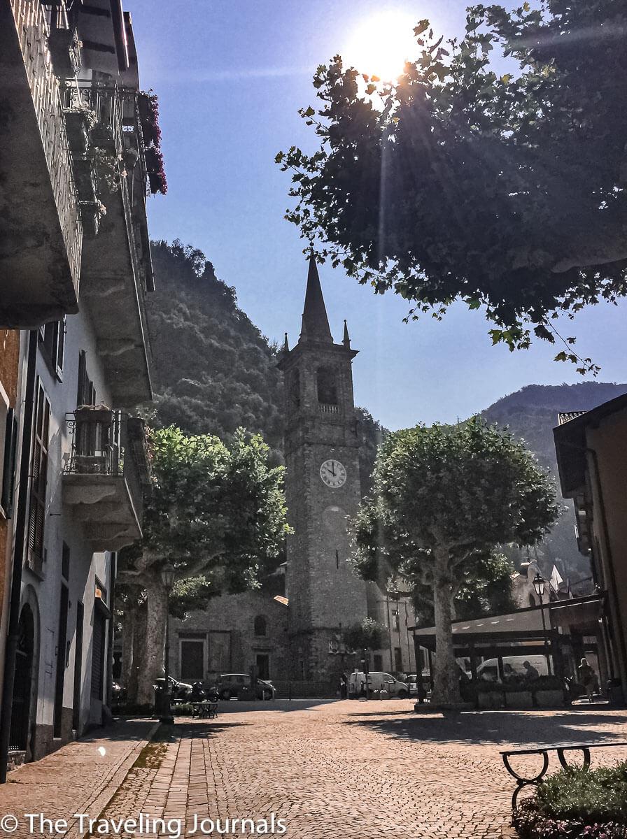 Church of San Giorgio in Varenna, Lake Como,Iglesia de San Giorgio en Varenna