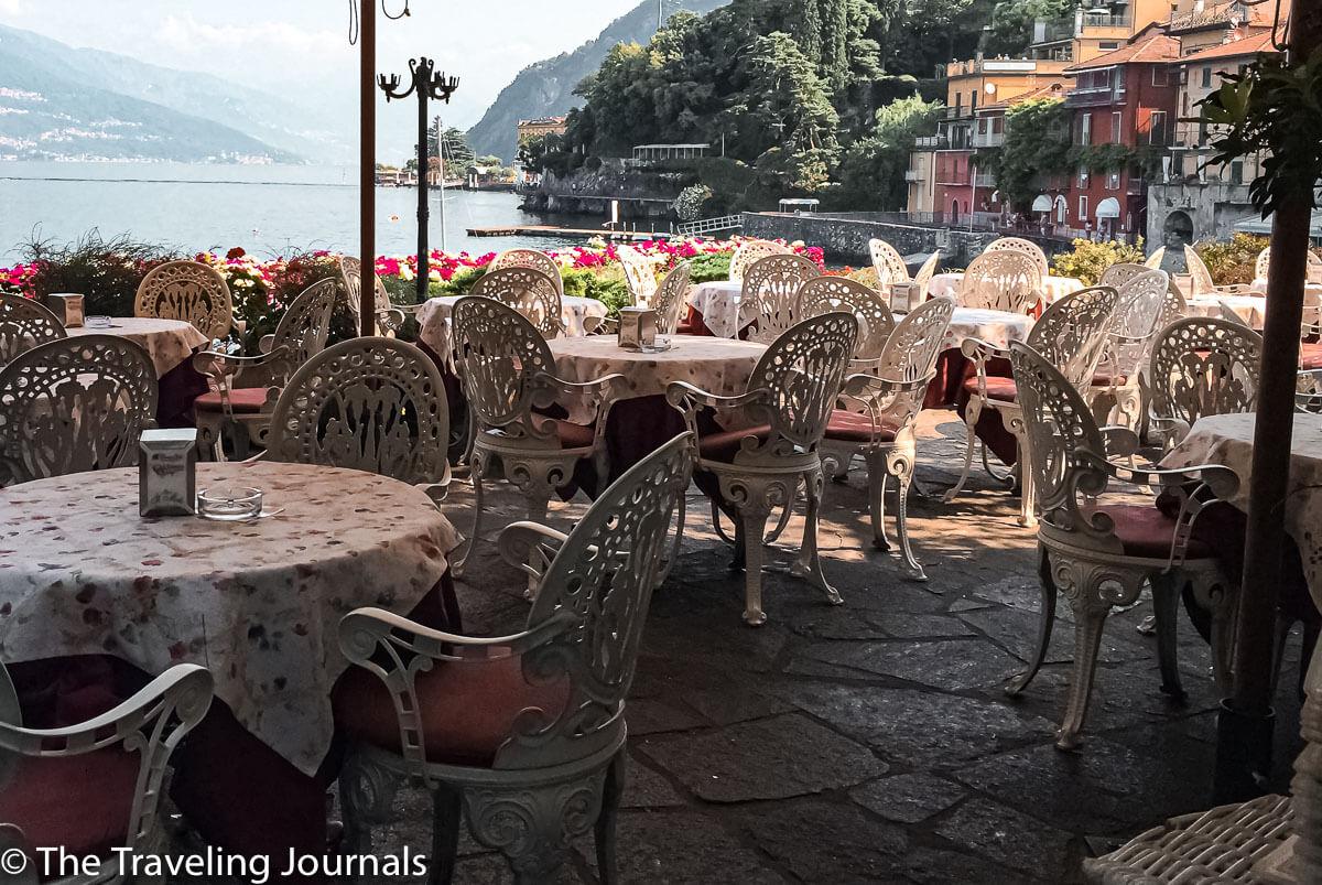 Restaurant in Varenna, Lake Como, Restaurante en Varenna