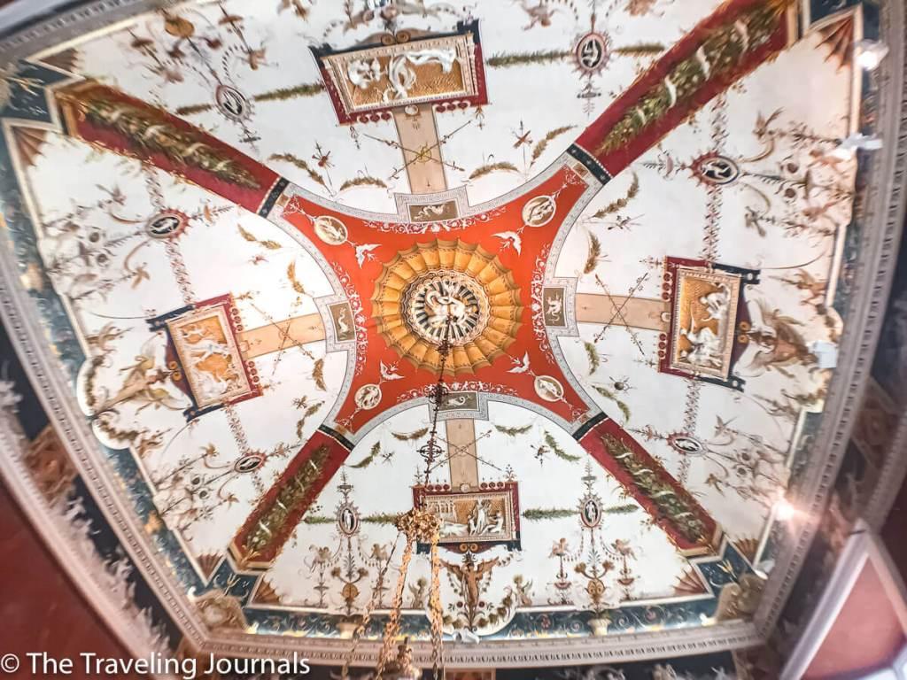 Painted ceiling in Villa Carlotta