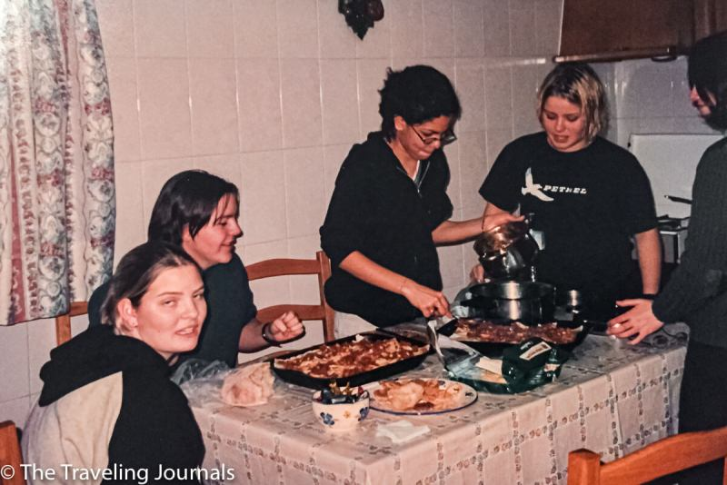 New Year's eve 99/2000, exchange year memories, living abroad, living in portugal, cooking for the first time, international friends, first time cooking, friendships
