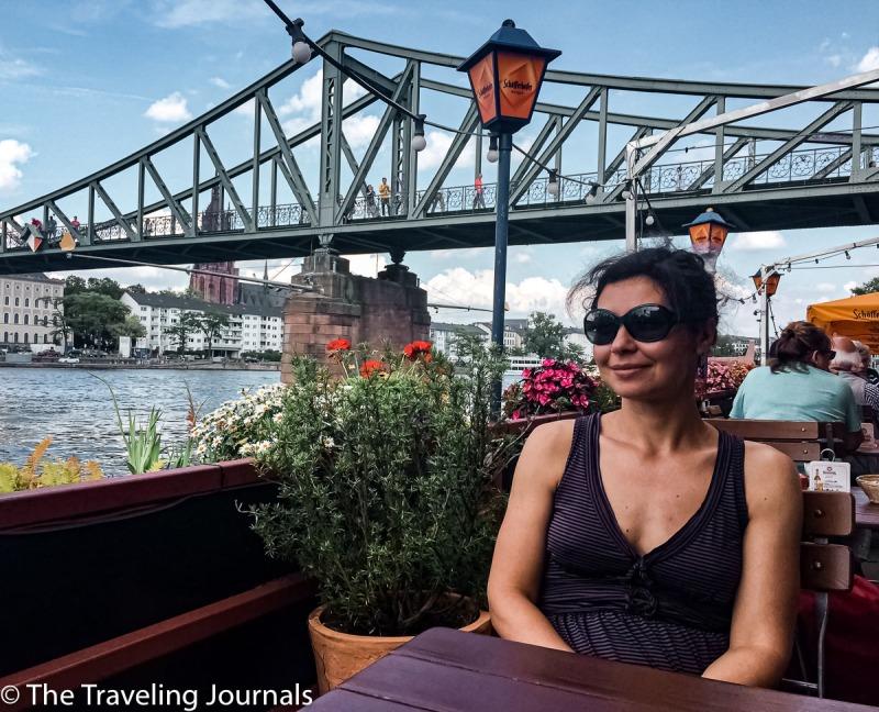 Eiserner Steg, puente de hierro, famoso puente de hierro en francfort, puente en frankfurt, verano en frankfurt, summer in frankfurt