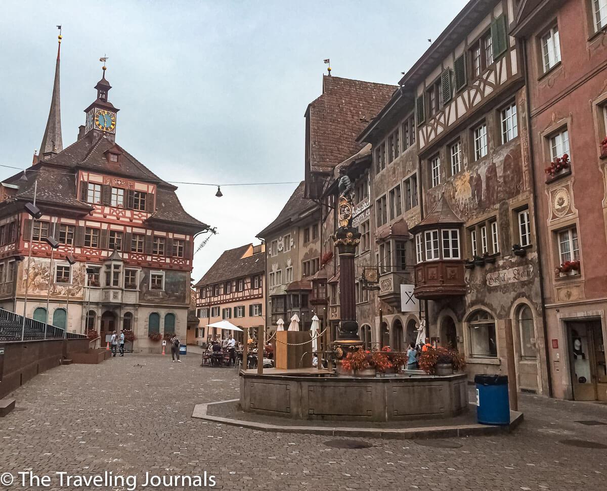 Stein Am Rhein, city in Switzerland, medical town of Stein Am Rhein, pueblo medievalStein Am Rhein, ciudad en Suiza