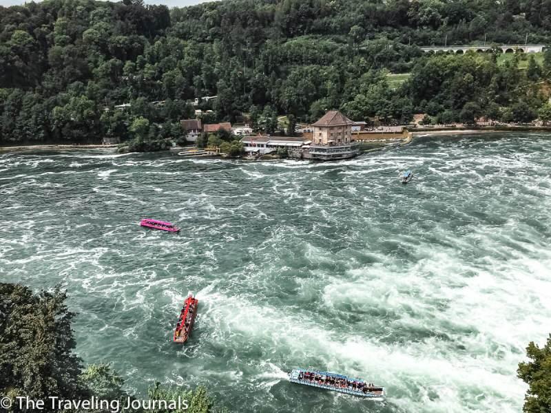 Rhine Falls boat tours, paseos en Marco de las cataratas del Rin, summer boat rides at Rhine Falls, Paseos en Marco cataratas del Rin, Summer in Switzerland, Verano en Suiza