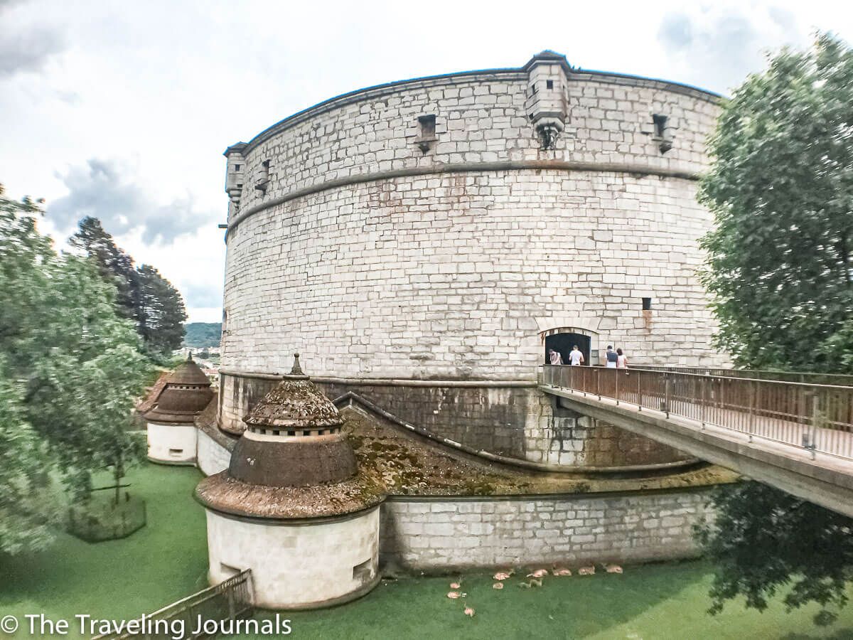 Munot Fortress, Fortaleza Munot, Fortaleza en Schaffhausen,Schaffhausen fortress, vista exterior Munot, outside view of Munot Fortress