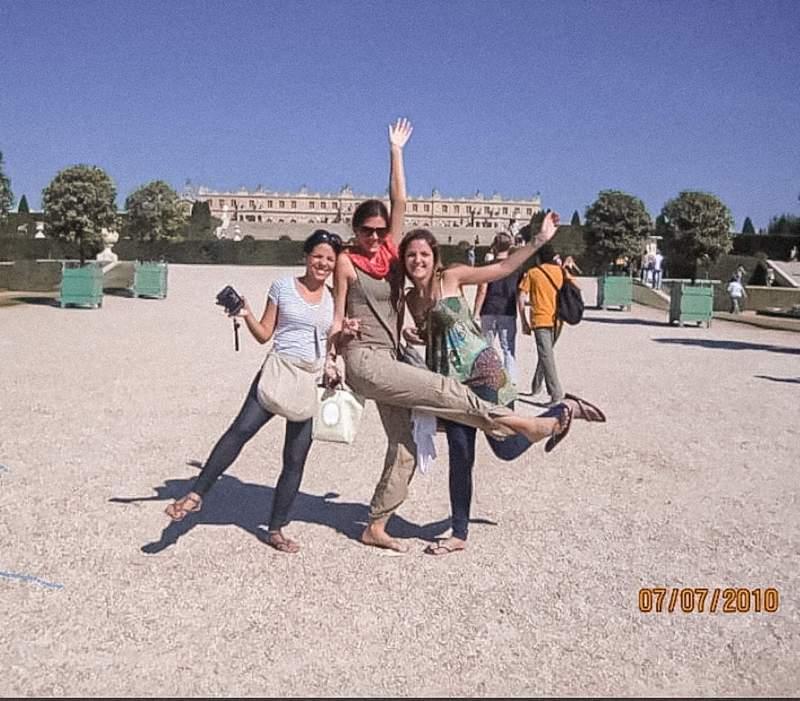 Girls in Paris, Chicas en Paris, Verano en el Palacio de Versailles, Summer in Versailles,